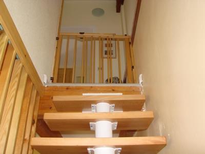oben gesicherte Treppe ins OG