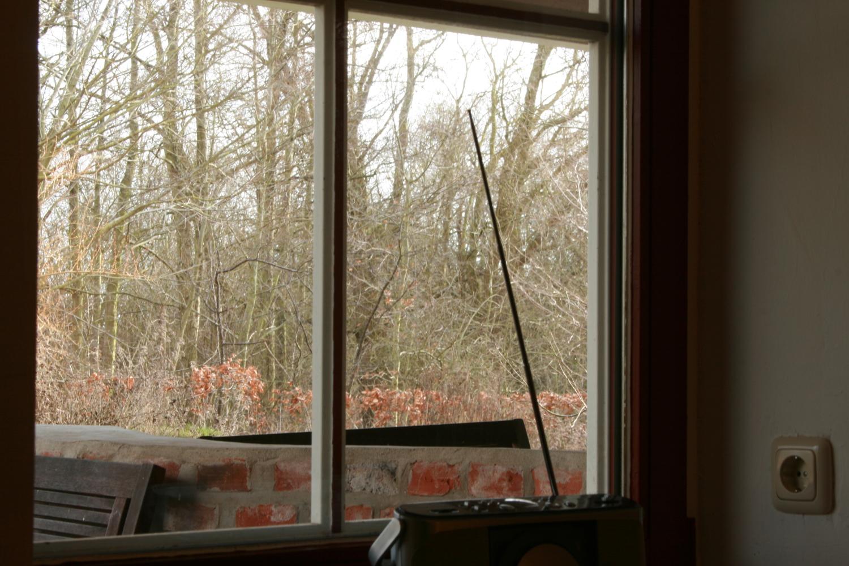 Ausblick Küchenfenster im Winter